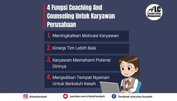 4 Fungsi Coaching and Counseling Untuk Karyawan Perusahaan