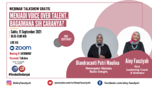 Webinar Gratis Menjadi Voice Over Talent